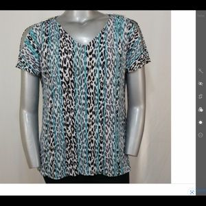 Dana Bachman animal print blouse